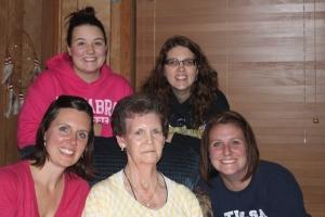 Me, Emmi, Farra, Laura, Granny